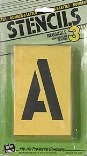 ST3 3 IN. NUMBER/LETTER STENCILS