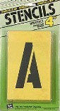 ST4 4 IN. NUMBER/LETTER STENCILS