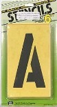 ST6 6 IN. NUMBER/LETTER STENCILS