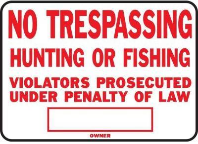 SS5 10X14 LEGAL NO TRES SIGN