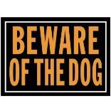 10X14 BEWARE OF DOG ALUMINUM SIGN