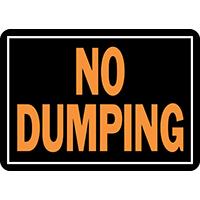 SIGN NO DUMPING 10X14IN ALUM   per 12 EA