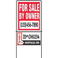 LAWN SIGN FOR SALE OWNER 14X18