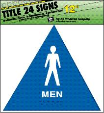 SIGN MEN TRIANGLE 12IN PLASTIC