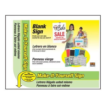 MYO-1 14X18 BLANK SIGN
