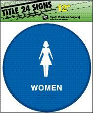 Hy-Ko T-24 Identification Sign, Women, 12 in W x 12 in L