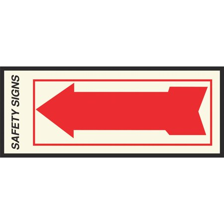 Hy-Ko FA-1 Decorative Self-Adhesive Sign, Arrow, 10 in W