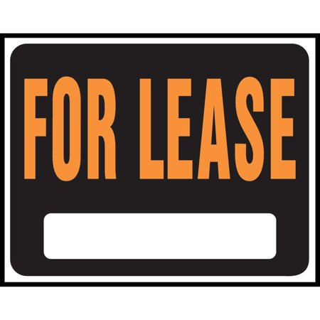 Hy-Ko SP Series Jumbo Reversible Weather Resistant Sign, FOR LEASE, 14-1/2 in W