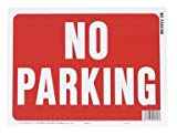 Hy-Ko 20609 Weather Resistant Sign, NO PARKING, 9 in W