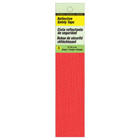 Hy-Ko TP-3R Self-Adhesive Reflective Safety Tape, 6 in L X 0.0625 in T, Red