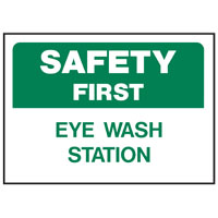 Hy-Ko 573 Weather Resistant Sign, EYE WASH STATIO
