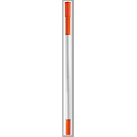 Hy-Ko DM80084-OR Driveway Marker, With Reflectors 84 in L, Fiberglass, Orange