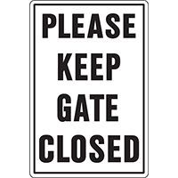 Hy-Ko 20523 Weatherproof Rural/Urban Sign, Please Keep Gate Closed, 18 in W x 12 in L