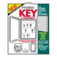 Hy-Ko KO302 Locking Key Cabinet, 8-1/4 in W 10-1/2 in H, Almond