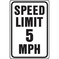 Hy-Ko HW Heavy Duty Highway Sign, Speed Limit 5MPH, 12 in W x 18 in L