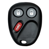 Hy-Ko 19GM903F Keyless Entry Key Fob, 3 Button, For Use With O-GM903F General Motor