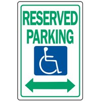 Hy-Ko HW Heavy Duty Highway Sign, Handicap Reserved Parking, 12 in W x 18 in L