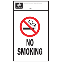 Hy-Ko HSV Self-Adhesive Sign, NO SMOKING