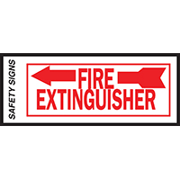 SIGN FIRE EXTINGUSHR ARROW LFT