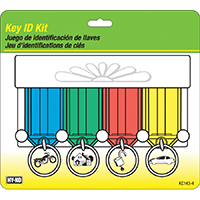 Hy-Ko KC143-4 Easy Open Key ID Tag Kit, 4 Pieces