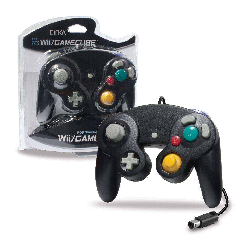 CIRKA M05819-BK BLACK WII AND GAMECUBE CONTROLLER