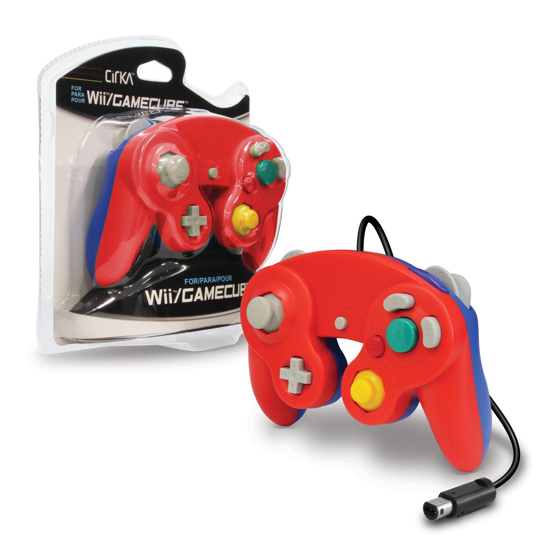 CIRKA M05819-RDBU RED BLUE WII AND GAMECUBE CONTROLLER