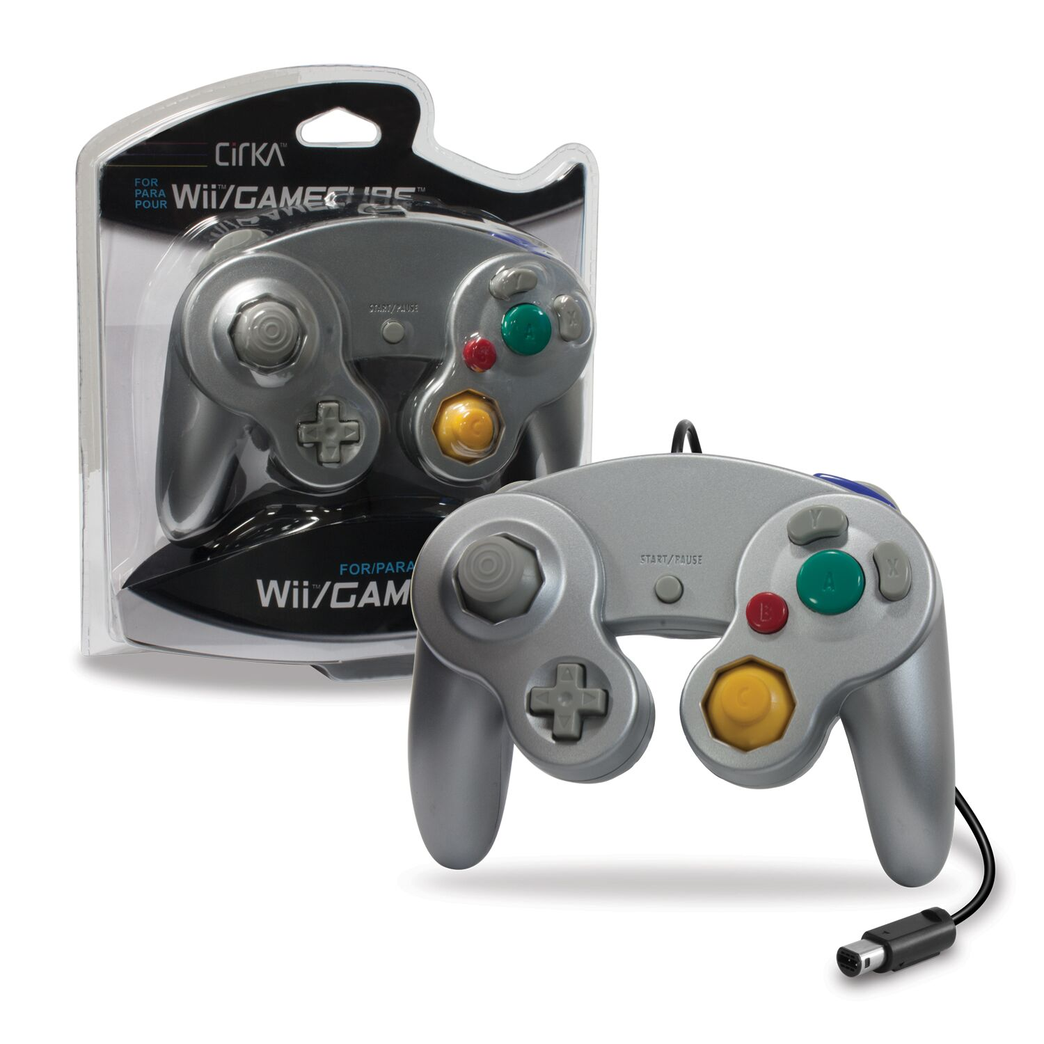 CIRKA M05819-SL SILVER WII AND GAMECUBE CONTROLLER