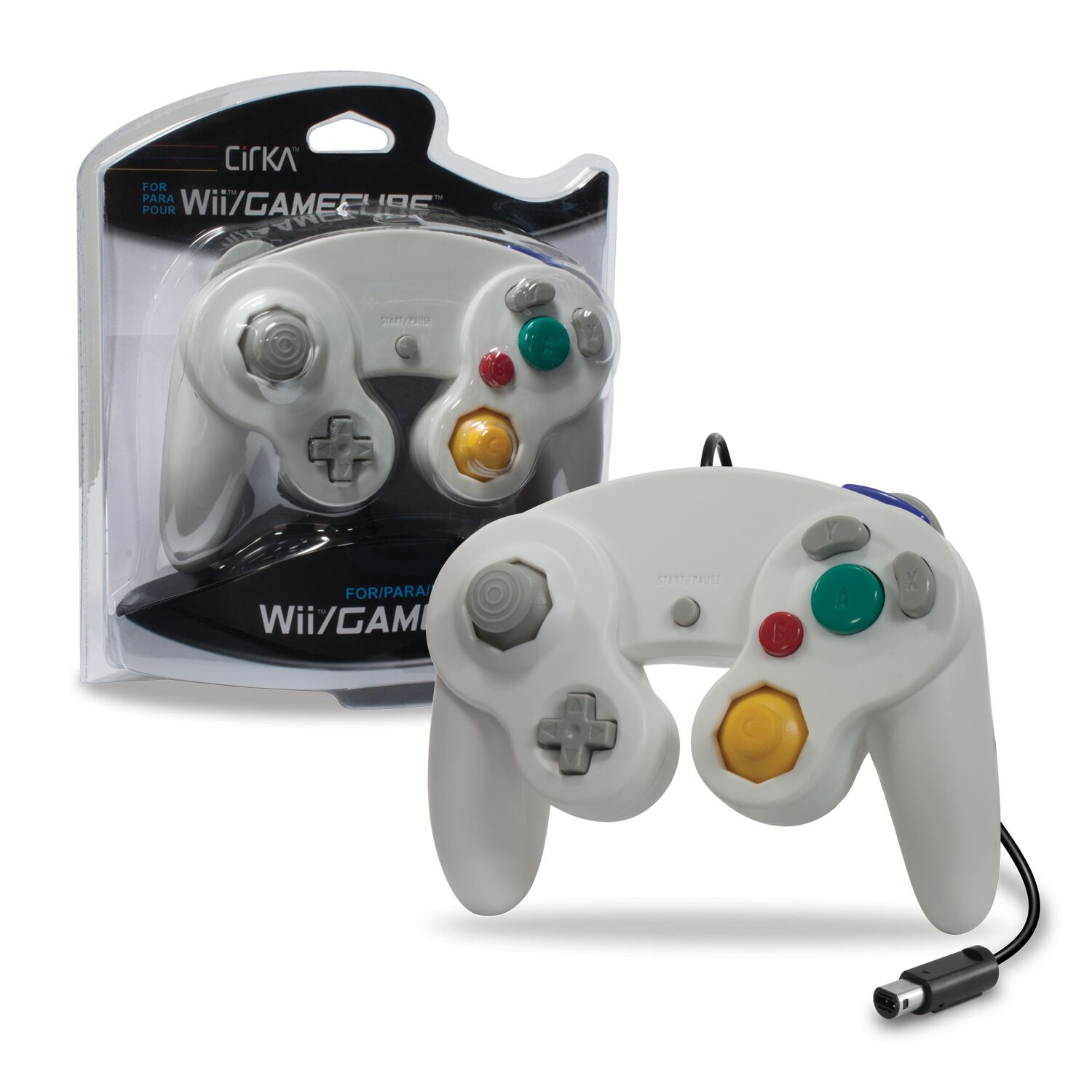 CIRKA M05819-WH WHITE WII AND GAMECUBE CONTROLLER