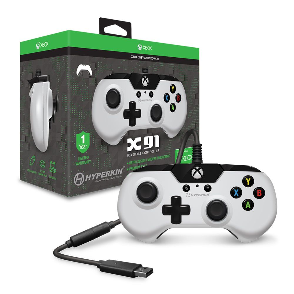 HYPERKIN M01628-WH WHITE X91 WIRED CONTROLLER FOR XBOX ONE