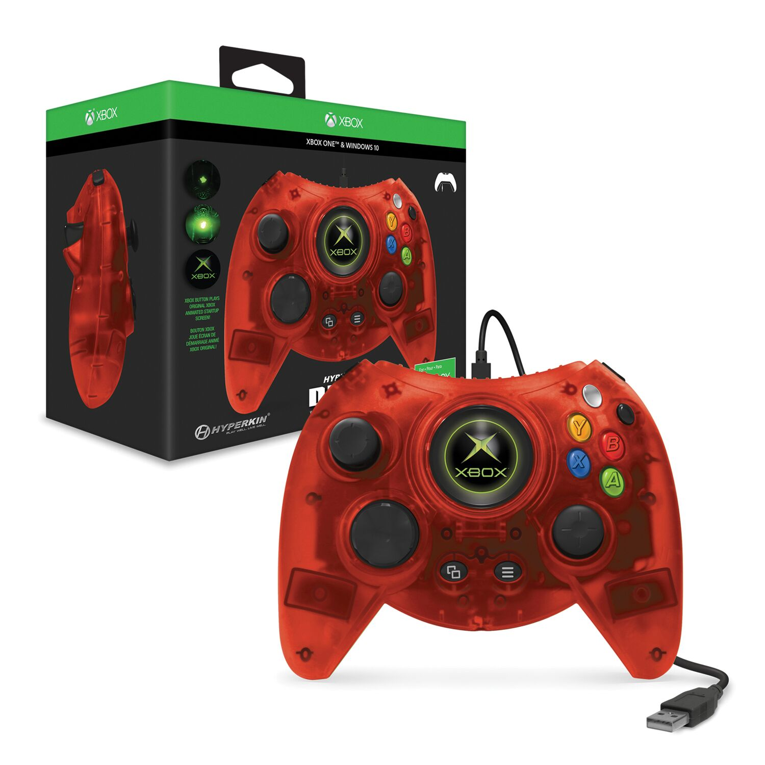 HYPERKIN M01668-RD RED DUKE WIRED CONTROLLER FOR XBOX ONE