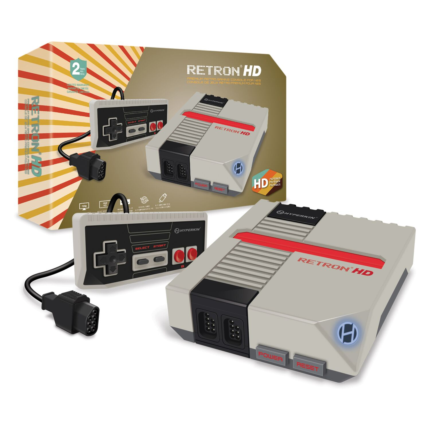 HYPERKIN M01888-GR GRAY RETRON 1 HD GRAMING CONSOLE FOR NES