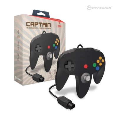 HYPERKIN M07260-BK BLACK CAPTAIN PREMIUM CONTROLLER FOR N64.
