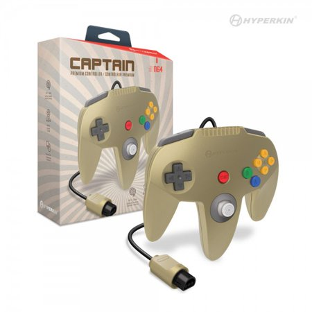 HYPERKIN M07260-GD GOLD CAPTAIN PREMIUM CONTROLLER FOR N64.