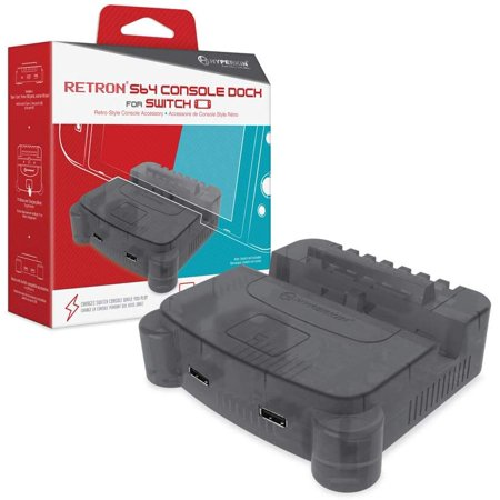 HYPERKIN M07390-SG SMOKE GREY RETRON S64 CONSOLE DOCK FOR