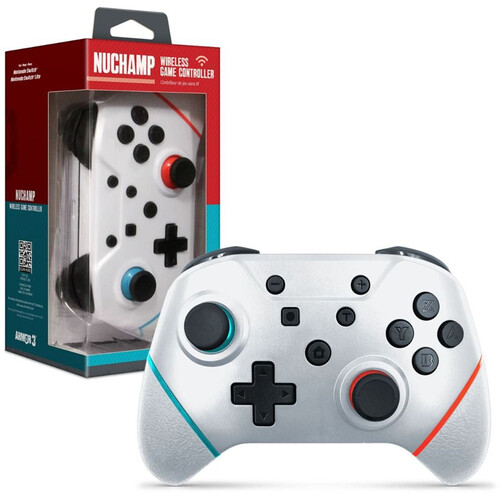 ARMOR3 M07467-WH WHITE NUCHAMP WIRELESS GAME CONTROLLER FOR