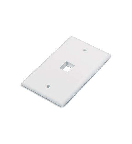 1 PORT FACE PLATE WHITE