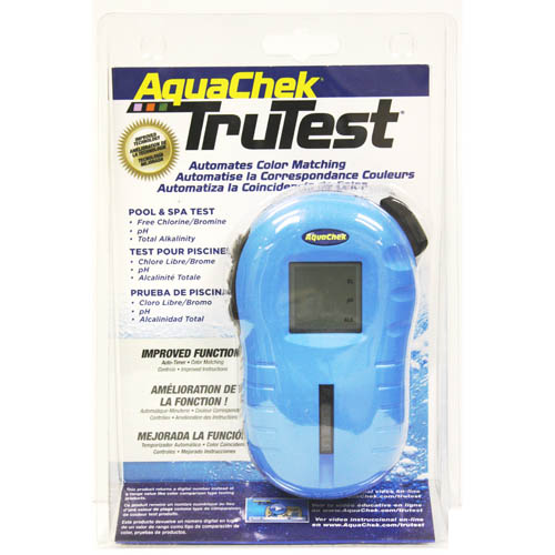 Water Testing, Aquacheck, Tru-Test, Blue Digital Reader, 25 Per Bottle, Chlorine