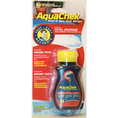 Water Testing, Test Strips, Aquacheck, Test Strips, Bromine, 50 Per Bottle