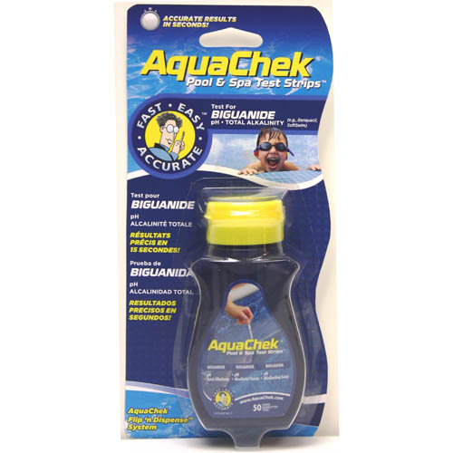 Water Testing, Test Strips, AquaCheck, Biguanide, 25 Strips/Bottle