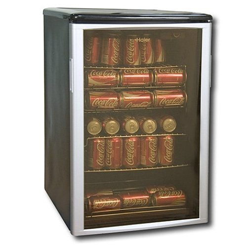Haier 96 Can Beverage Cooler Silver