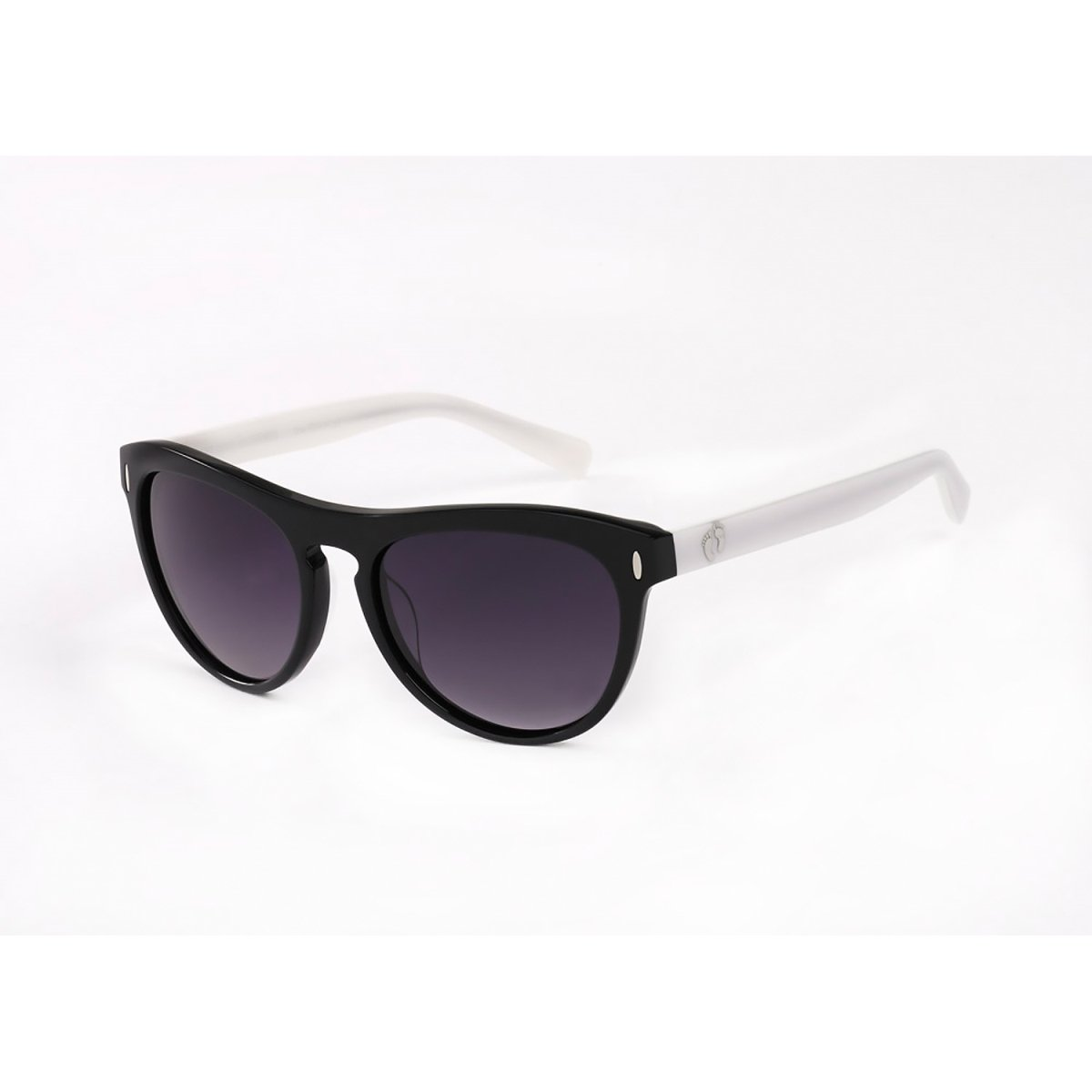 Hang Ten Gold The Beach Ley-Shiny Black-White/Smoke Lens