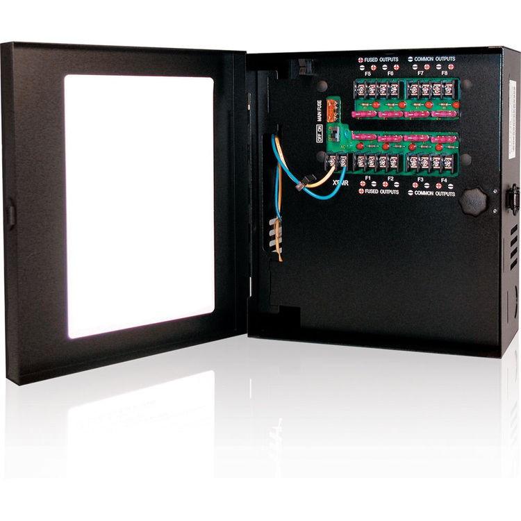 Hanwha Techwin 8 Camera 12VDC 5Amp Power Supply PWR-12DC-8-5
