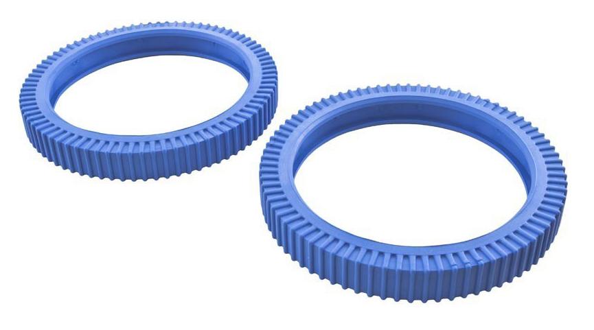 Blue Solid Back Tires For Tile (Pack Of 2)