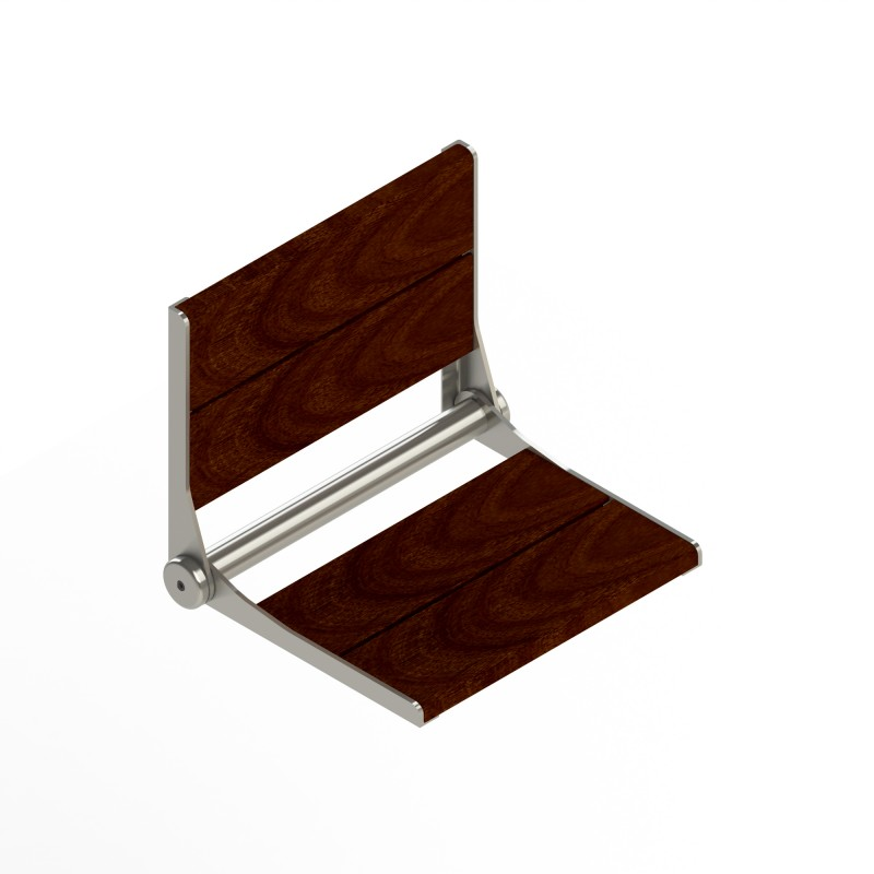 Serenaseat Fold-Away Brazilian Walnut Shower Seat