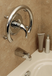 Invisia™ Accent Ring with Integrated Support Rail - Bright Polished Chrome - (Valve not included)
