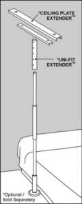"SuperPole System - Uni-Fit Extender™ (height range from 100-120""/254-305cm)"
