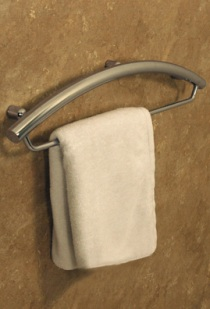"Invisia™ 24"" Towel Bar with Integrated Support Rail - Bright Polished Chrome"