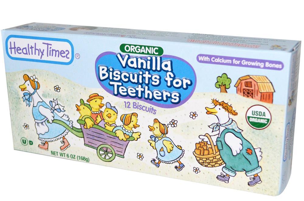 Healthy Times - Vanilla Teething Biscuits ( 12 - 6 OZ)