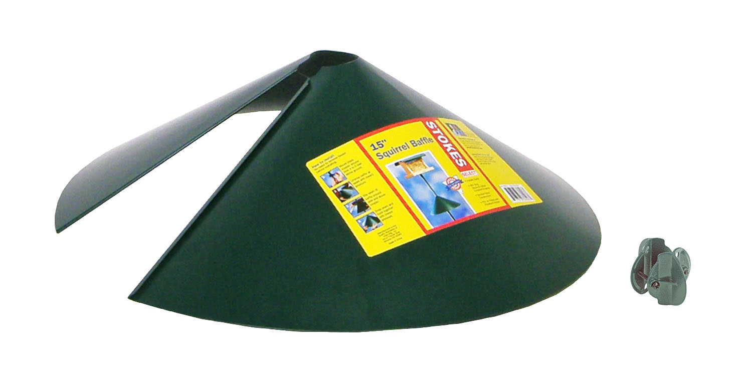 15 inch Squirrel Baffle-Black