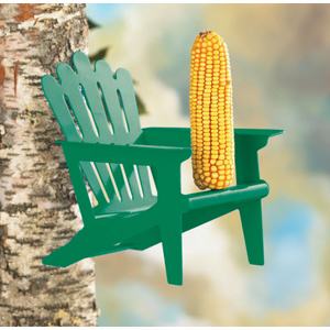 Adirondack Chair Squirrel feeder  (green)